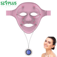 New Smart face massager Facial Mask Silicone Magnetic Massage face lift Anti Wrinkle Crow Feet Eye Toning Firm Skin mask Machine