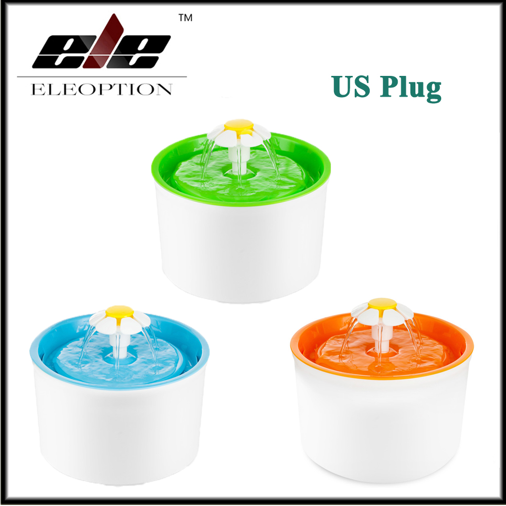 US Automatic 1 6L Flower Style Dog Cat Kitten Water Drinking Pet Fountain Pet Bowl Drink