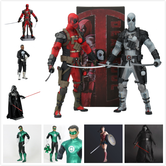 12 Deadpool Star Wars Knights of Ren Darth Vader Punisher DC Marvel Superhero PVC Action Figure Collectible Model original box knights of sidonia volume 6