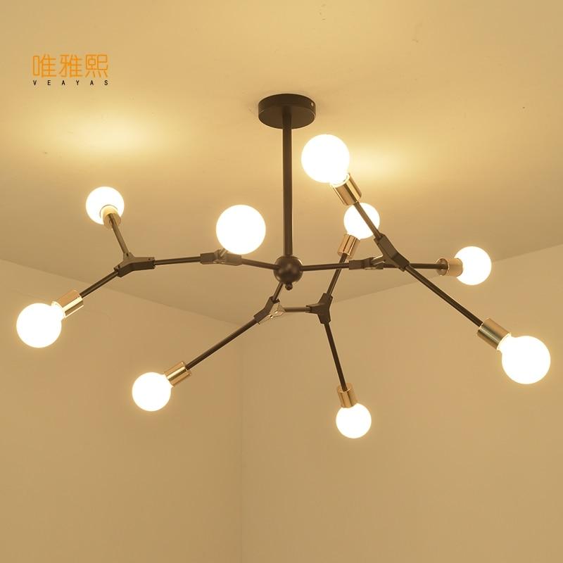 Регулируемый люстры, антикварная бра свет стекло для спальни гостиной потолочных светильников