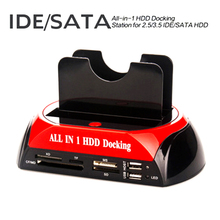 multi functional hard disk base FOR IDE SATA 3.5 2.5 IDE+SATA SD TF card reader HUB dual use base