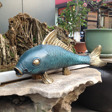 handicraft ornaments with fish in Home Furnishing feng shui jewelry gifts housewarming opening