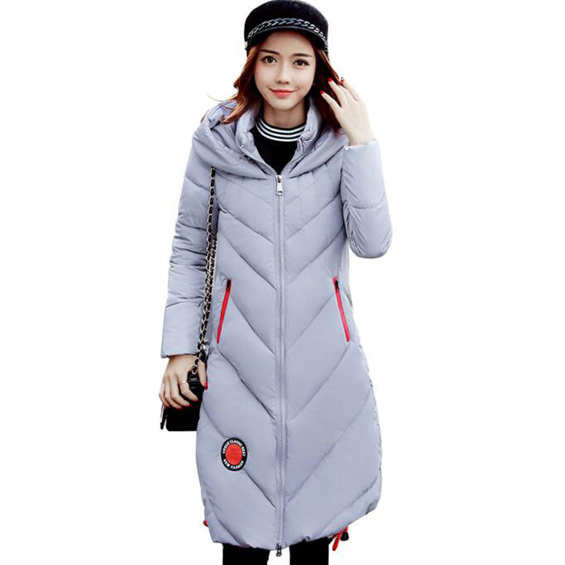 high quality 2017 New Winter Coat Women Jackets Hooded Slim Fashion Cotton-padded Parkas Outerwear thick Plus size Long CoatLiu1 2017 new plus size 5xl female long winter parkas thick women hooded collar cotton padded coat fashion slim outerwear pq011