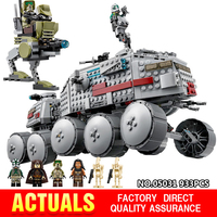 Lepin 05031 933Pcs Star Clone Turbo Tank 75151 Building Blocks Wars Compatible legoinglys 75151 Bricks Boys Toys Christmas Gifts