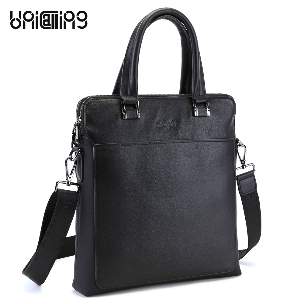 Simple Classical double zippers space genuine leather vertical men bag Top Layer Cowhide Real Leather fashion men shoulder bag simple solid colour and zippers design men s messenger bag