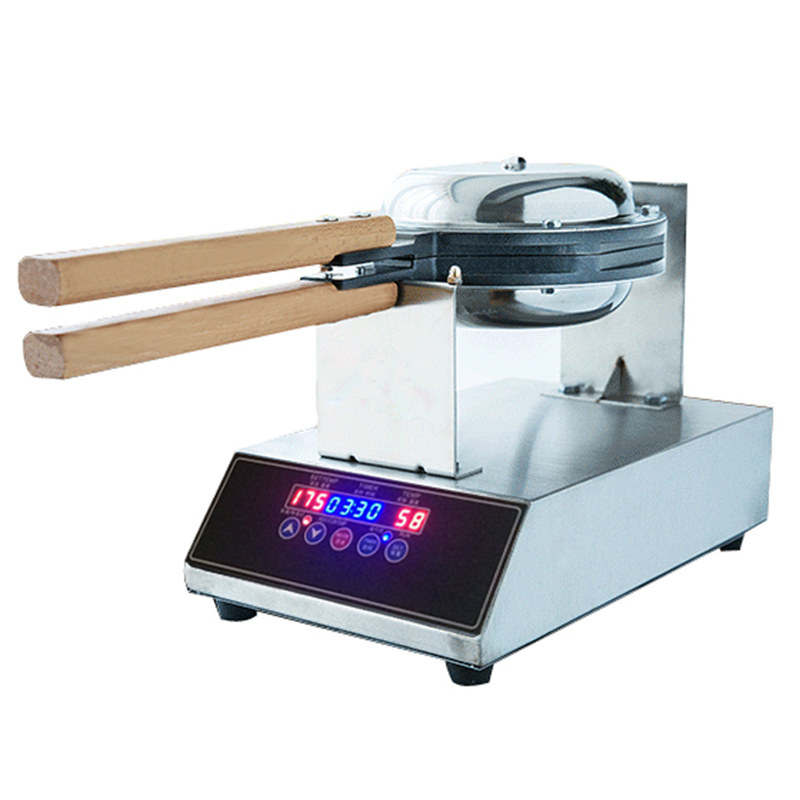 Digital Display Control Egg Waffle Machine Eggettes Waffle Maker 220V 110V Stainless Steel Electric Eggette Maker