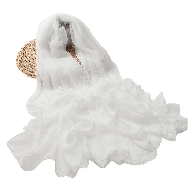 women scarf white shawl chiffon scarves spring autumn large more size ladies tippet beach towel