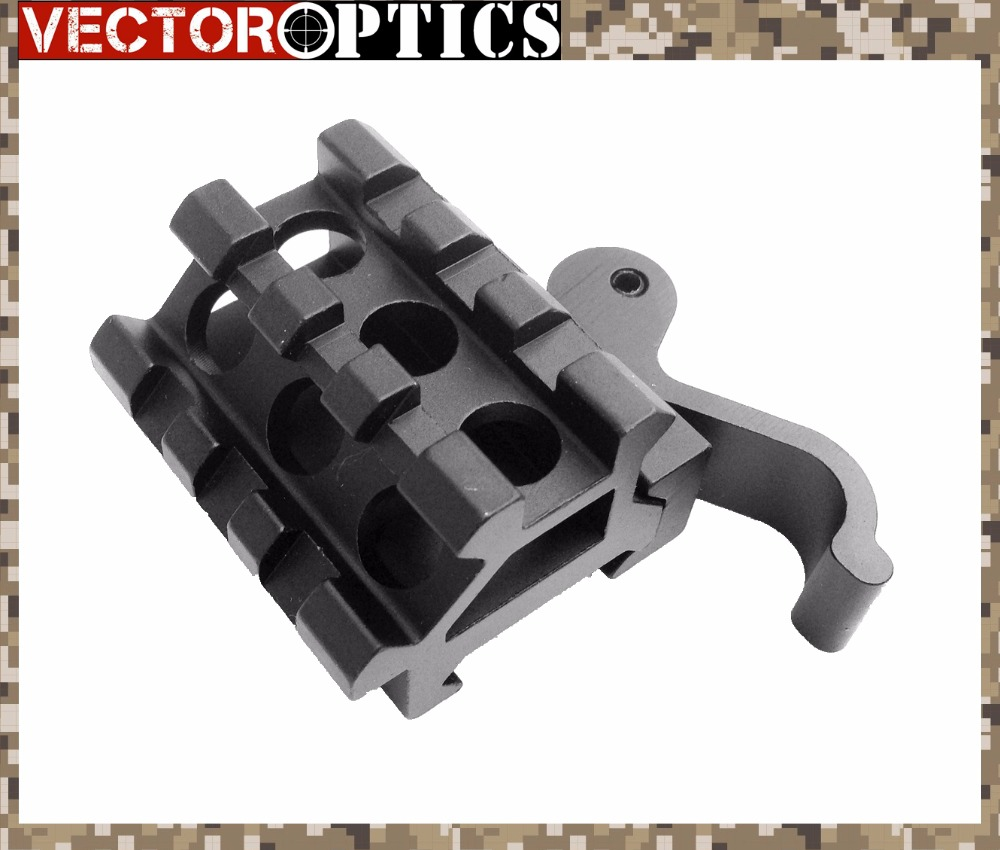 Vector Optics Compact Quick Release Picatinny Rail Offset QR 45 Angle See Through Mount 21mm Base For Sights , Lasers image