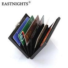 EASTNIGHTS wholesale 5pcs/lot  High-Grade Stainless Steel Men Credit Card Holder Women Metal Bank Case Box