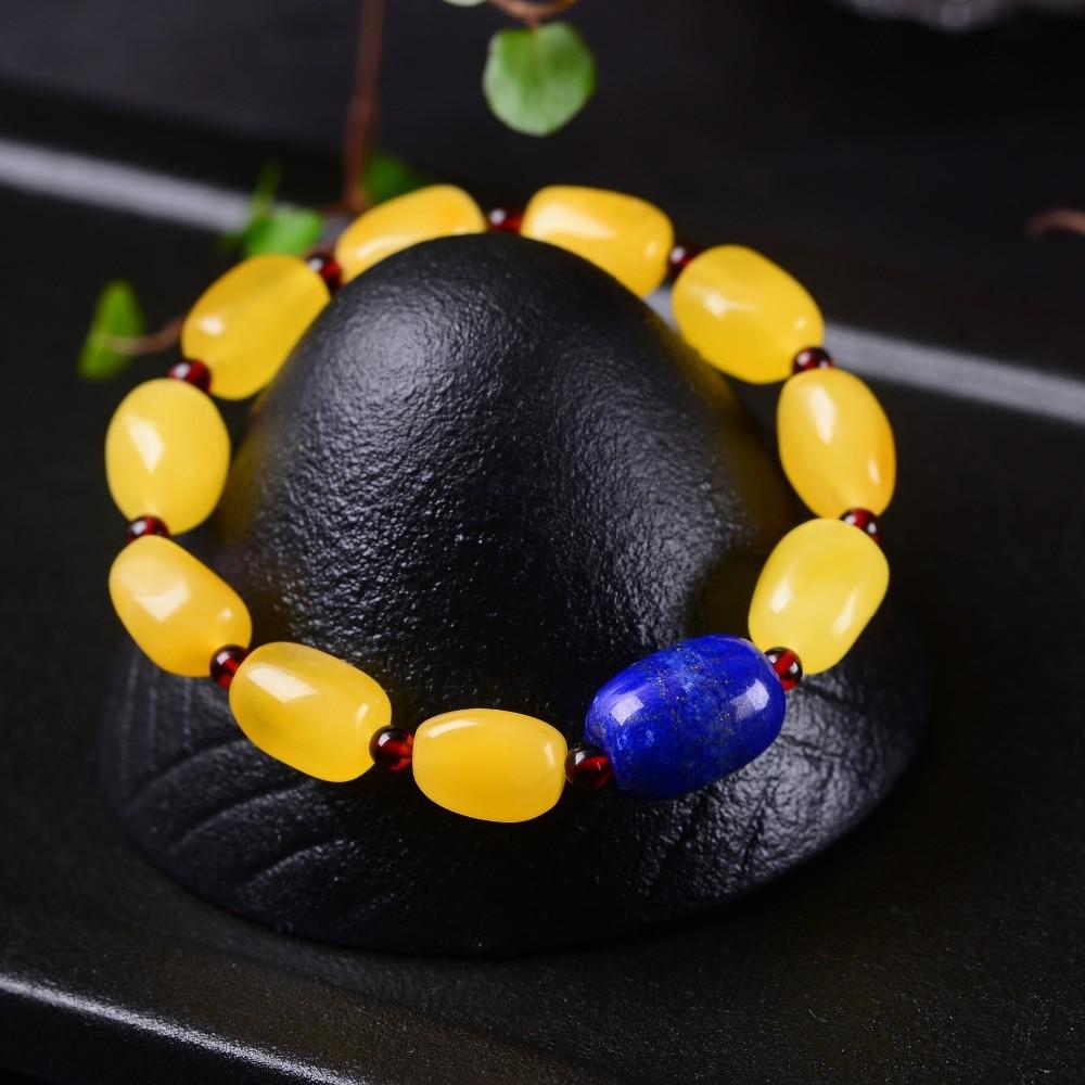 Handmade Authentic Wax Crystal Beads Bracelets 10*13mm handmade authentic wax crystal bracelets