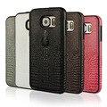 Genuino de lujo de Cuero Real Cubierta de la Caja Del Teléfono Para El Caso S6 Accesorios Cabeza de Cocodrilo Patrón de Cuero Para Samsung Galaxy S6