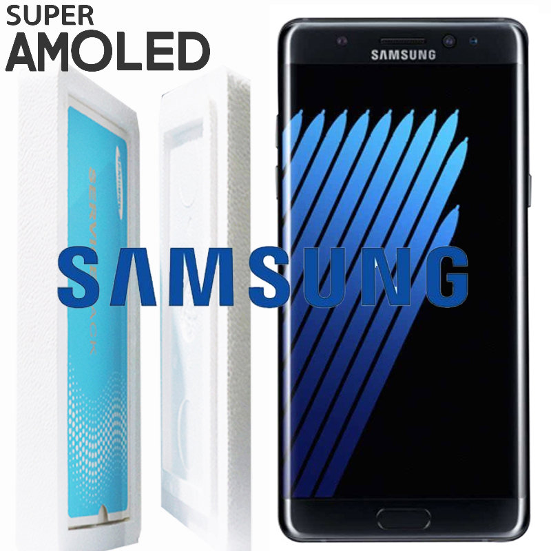 ORIGINAL 5 7 AMOLED LCD with frame for SAMSUNG GALAXY Note7 Note 7 FE N930 N930F