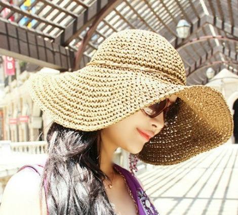 Aba larga chapéu de palha arco praia cap chapéu da moda no atacado  acessórios de viagem 17cd99ed5d