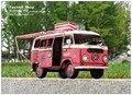 1966 VW camper RV model Retro classic cars decoration gift Pink
