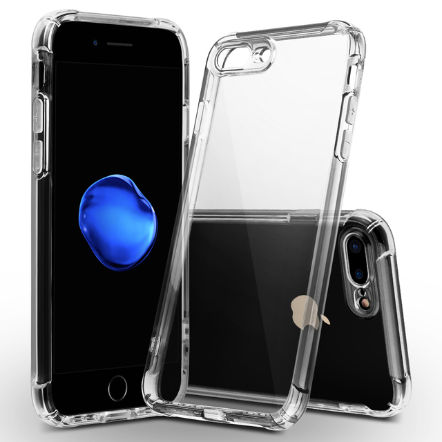 c0a3e74a9f For Apple iPhone 8/8 Plus Case ,WEFOR Luxury Brand TPU Silicon Slim Clear  360 Transparent Silicone Case Cover For iPhone 8 X