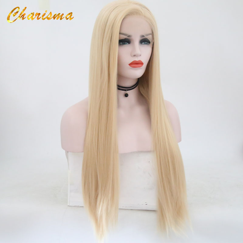 Charisma Synthetic Lace Front Wigs Blond Wig Long Straight Hair With Natural Hairline Lace Front Wig Women Wig Side Part(China)