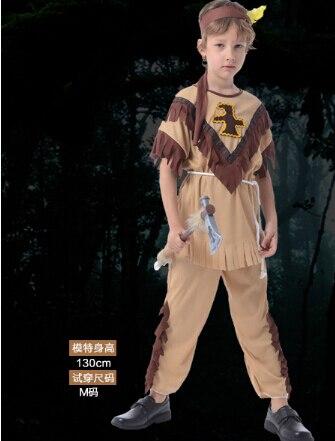 Halloween Cosplay 110-140cm Clothing 3 pcs set kid india Costume super hero costume for boy birthday gift party