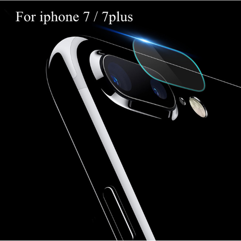 2 PCS Fingerprint Back Transparent Camera Lens Protective Protector Guard Cover For iphone 7 8 plus Tempered Glass Film Clear