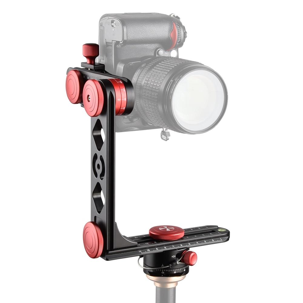 Pro photographie 720 degrés Angle tête panoramique cardan trépied rotule en Fiber de carbone trépied pour caméra caméscope