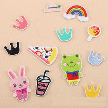 Children Cartoon Colorful Lovely Embroidered Iron On Patches Design Beauty Patch For Clothing Badges Diy Accessories