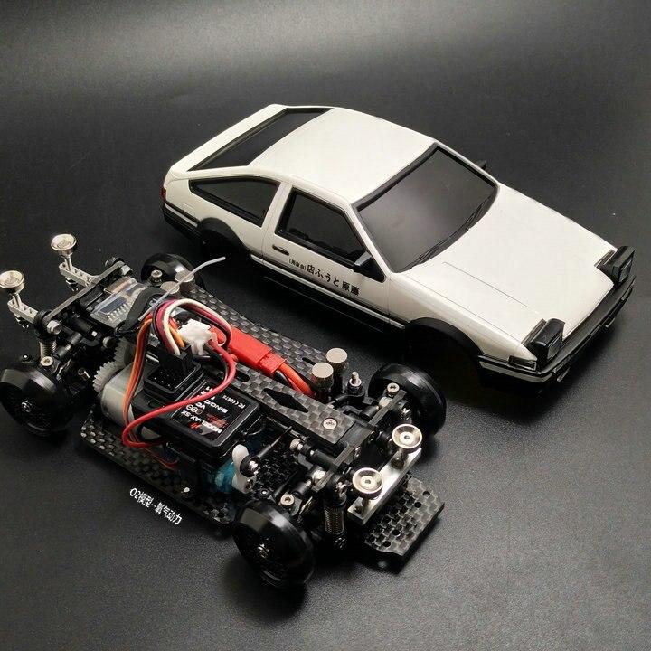 MINI-D1/28RC Mini dérive course quatre roues motrices arrière modèle de télécommande kit