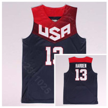 9780cd880 Ediwallen Men 13 James Harden 2014 USA Basketball Jerseys Dream Team Eleven  Team Navy Blue Away