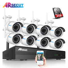 P2P 8CH CCTV System Wireless NVR Kit 8pcs 1080P HD Outdoor IR Night Vision Security IP Camera WIFI Video Surveillance System