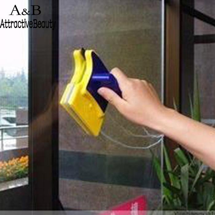 Surface Window Glass Wiper Cleaner Magnetic Double-sided Brushes Cleaning Tools