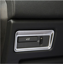 все цены на ABS Chrome Interior Accessory Taildoor Button Trim Sticker For Land Rover Range Rover Evoque Vogue Sport 2012-2017,Car Styling онлайн
