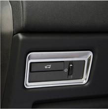 ABS хромированный ИНТЕРЬЕР АКСЕССУАР задняя дверь кнопка накладка наклейка для Land Rover Range Rover Evoque Vogue Sport 2012-2017, автомобильный стиль