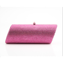 Champagne Women red Crystal Bags Evening clutch Purse Metal pink Hardcase box Wedding Party Minaudiere Handbag Clutch wallet xiyuan brand pineapple shape red yellow crystal women evening purse metal clutch bag wedding dinner minaudiere handbag wallet