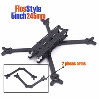 FlosStyle 5inch 245mm Acro Freestyle Frame 5mm arms quadcopter frame kit drone