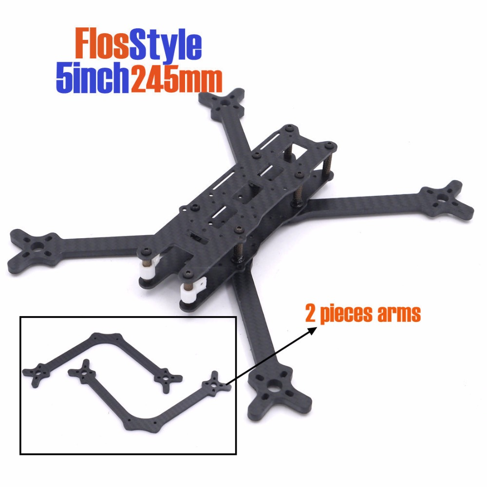 FlosStyle 5inch 245mm Acro Freestyle Frame 5mm arms quadcopter frame kit drone wd5000m22k 500gb 16gb sshd 2 5inch ultrasilm 5mm sff 8784