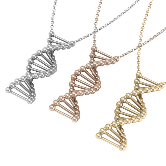 pendant jewelry dna science by genetics product printed