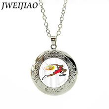 JWEIJIAO Sports Necklaces Basketball Fire Art Picture Glass Dome Pendant Neck Chain For Men Jewelry Gift E822