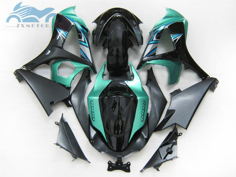 Upgrade your Fairing <font><b>kits</b></font> for <font><b>Suzuki</b></font> GSXR 1000 <font><b>GSXR1000</b></font> 2007 2008 K7 <font><b>K8</b></font> motorcycle street fairings <font><b>kit</b></font> 07 08 green black GS26 image