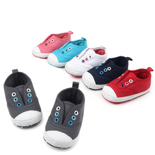 Newborn Canvas Baby Toddler Shoes 6 Candy colors Spring Autumn Boys Girls Kids Classic Sports Sneakers Anti-slip