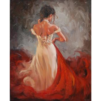 Dancing People Art Oil Painting Night Tango abstract Woman Canvas Hand painted wall decor
