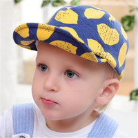 High Quality Popular 6-24Monthes New Fashion Korean Style Baret Cap Cotton Baby Peaked Cap Baseball Cap For Kids Boy Girl