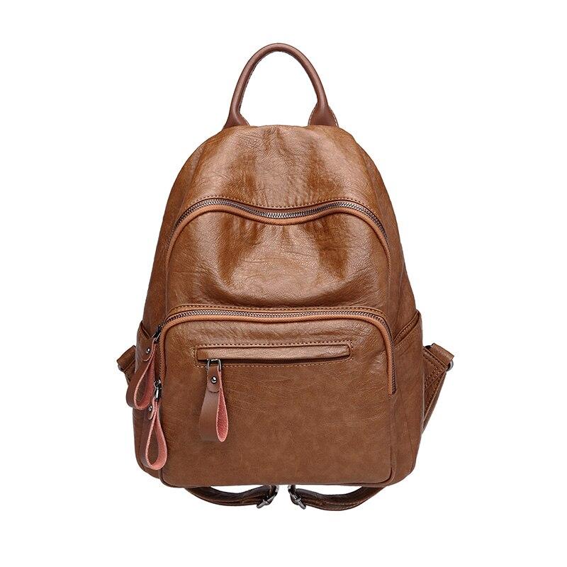 Женские модные рюкзаки, мужской повседневный офисный рюкзак, ретро кожаный школьный мини рюкзак для ноутбука, дорожные рюкзаки для подрост...