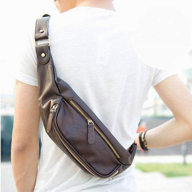 934c5ec4ac6e GUMST Новый 2018 Мужская мода талии пакет кожаные сумки нагрудная сумка  мужские сумки через плечо бесплатная доставка