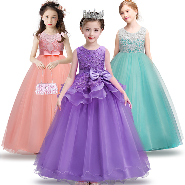 3 15yrs girl dress kids wedding bridesmaid children girs dresses summer 2016 evening party. Black Bedroom Furniture Sets. Home Design Ideas