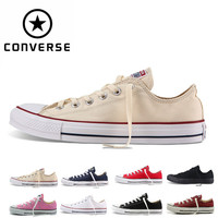 2018CONVERSE ALL STAR Original new men's and women's sneakers canvas shoes low classic Skateboarding Shoes .