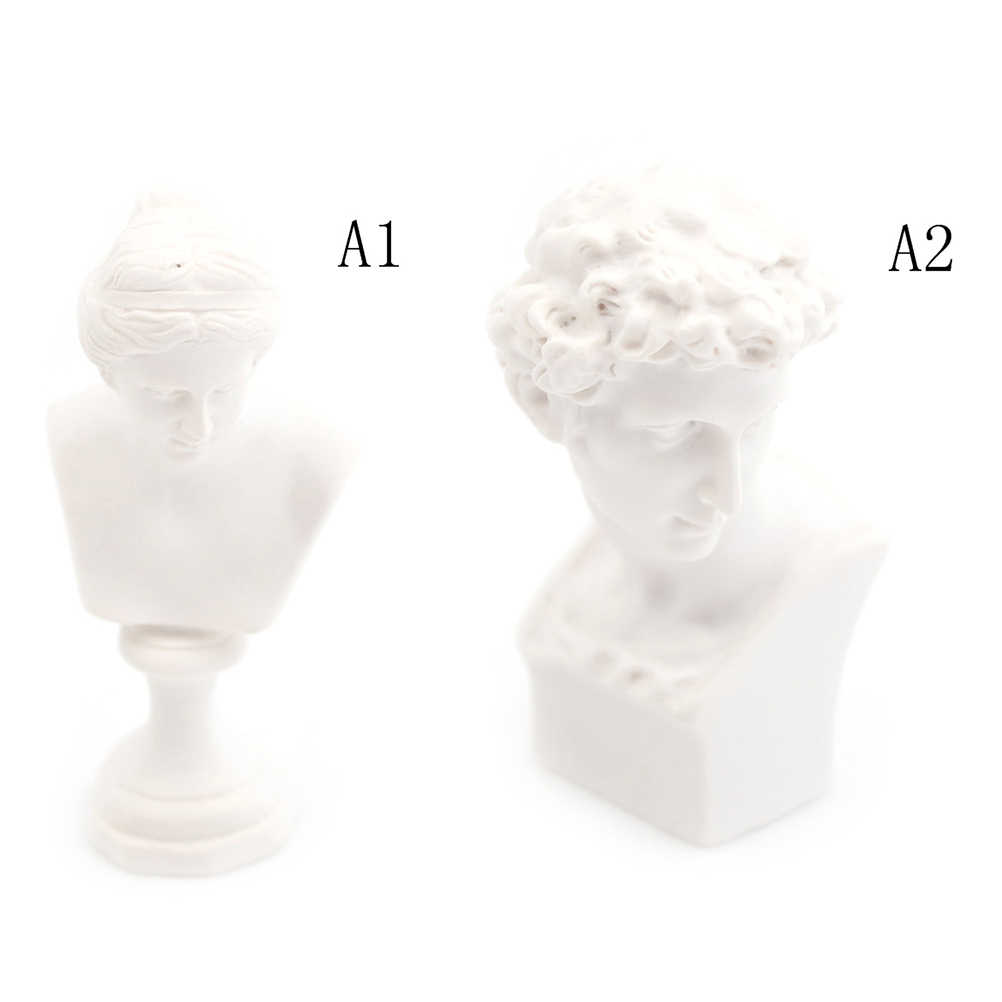 1/12 Dollhouse Miniature เฟอร์นิเจอร์จำลองสีขาว Venus David ประติมากรรมหน้าอก Pretend Play House ของเล่นสำหรับเด็กเด็ก