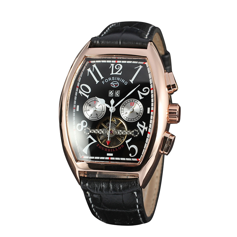 Date Month Display Rose Gold Case Mens Watches Luxury Automatic Watch Montre Homme Clock Men Casual Watch Relogio Masculino forsining date month display rose golden case mens watches top brand luxury automatic watch clock men casual fashion clock watch