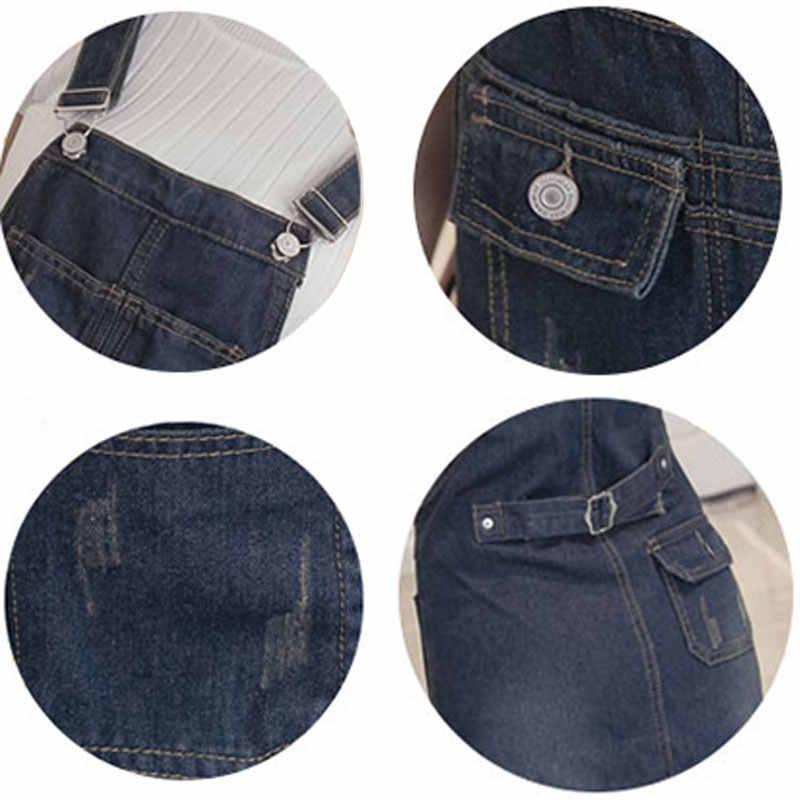 Летнее Длинное джинсовое платье для женщин 2019, джинсы макси на бретельках, платья для женщин, потертый сарафан большого размера, платье свободного кроя, Vestidos S-5XL HS186