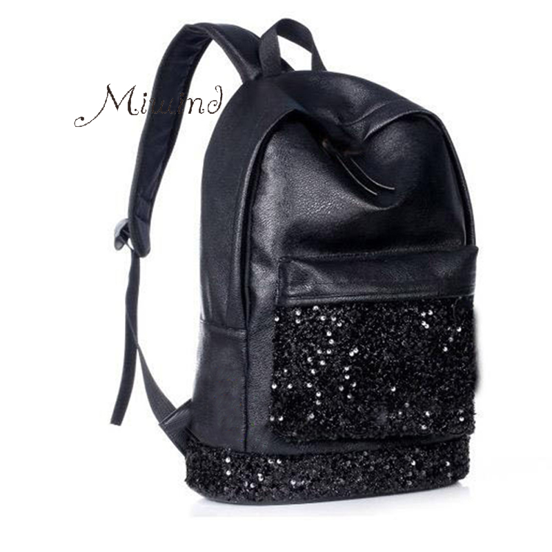 New 2016 fashion women backpack big crown embroidered sequins Backpack wholesale women leather backpack school bags BG221