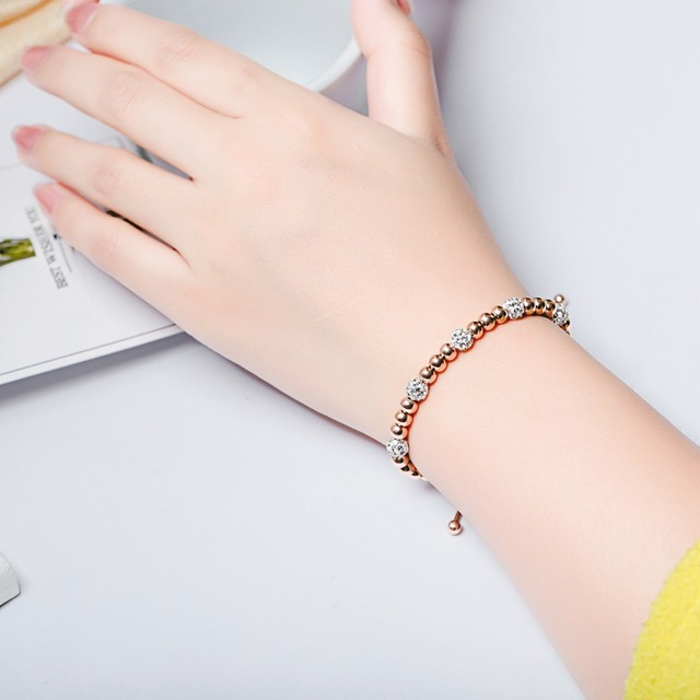 Купить модные очаровательные браслеты с бусинами для женщин регулируемая