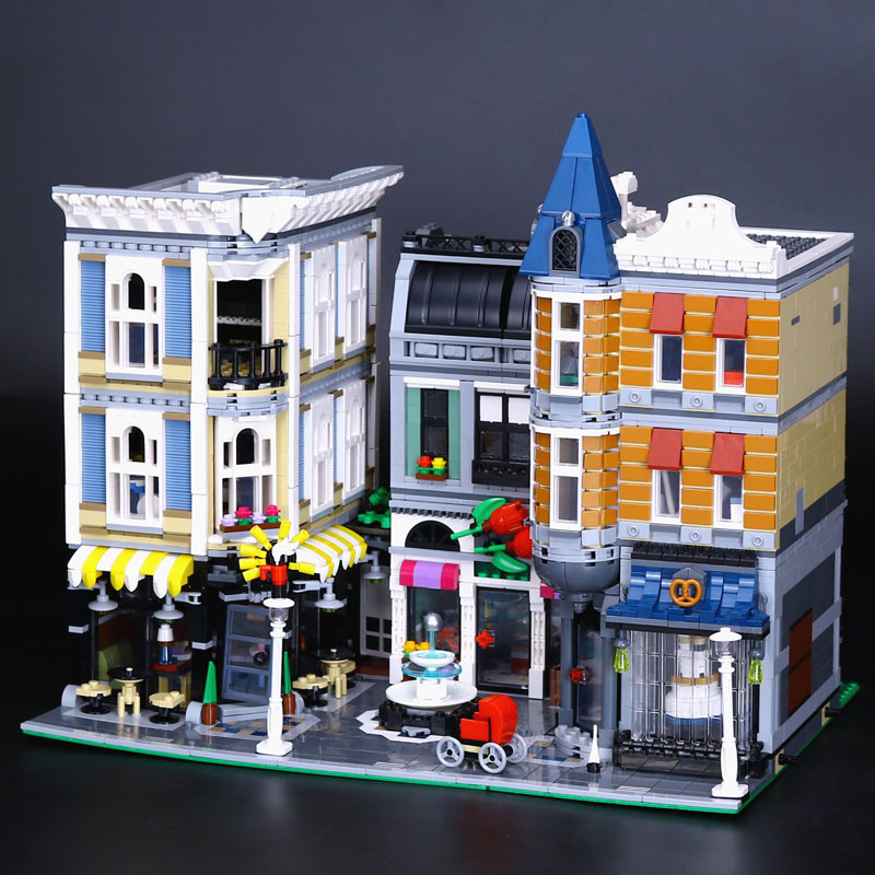 Lepin 15019 4002pcs MOC City Architecture Series The Assembly Square Set Building Blocks Bricks Toys Small piece block 10255 hot sembo block compatible lepin architecture city building blocks led light bricks apple flagship store toys for children gift