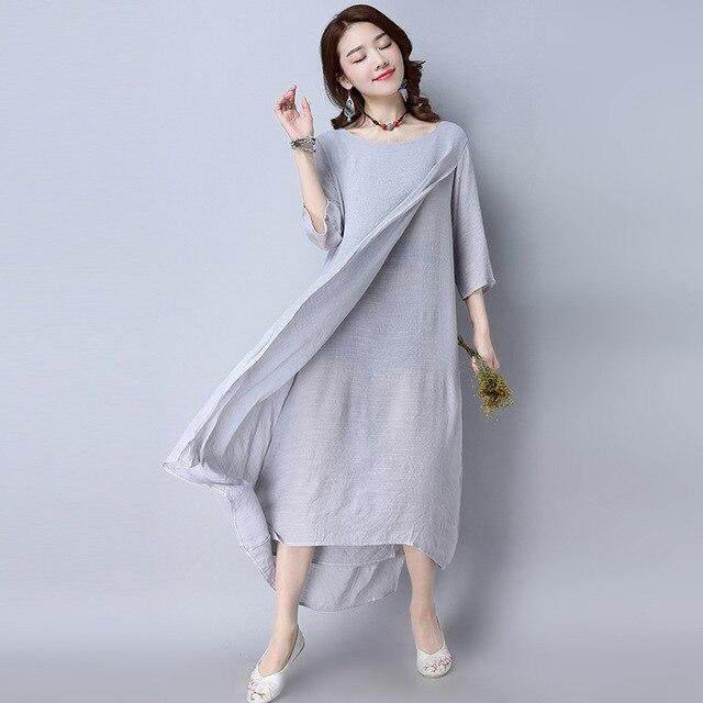 d80cdb2a9751 2018-Summer-Plus-Size-Dresses-For-Women-Loose-Cotton-Linen-Dress-White-Boho-Shirt-Dress-Long.jpg 640x640.jpg